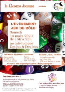 Journée événement Jeu de Rôle @ Des Jus & Des Jeux